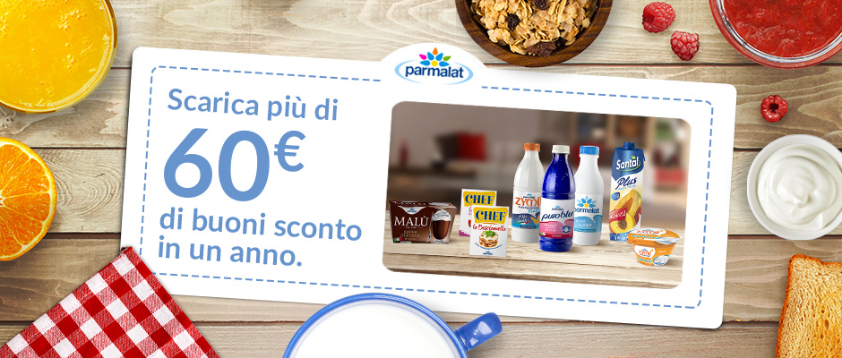 Buoni sconto Parmalat!